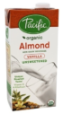 Pacific Foods Almond Vanilla Unsweetened 946ml