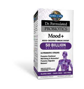 Garden of life dr formulated mood plus probiotic 60 caps naturally organic for Garden of life probiotics mood